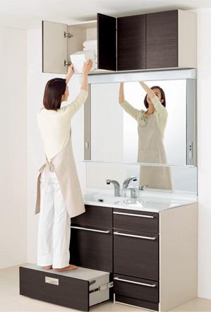 洗面化粧台クリナップティアリスステップコンテナタイプ