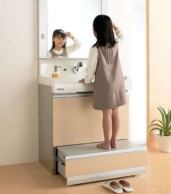 クリナップ 洗面化粧台 S エス ステップコンテナタイプ
